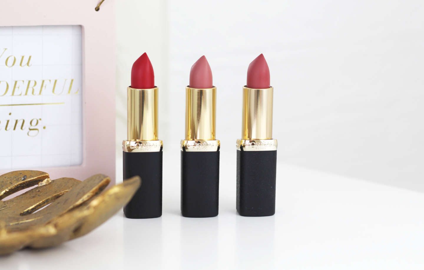 L'OREAL'S COLOR RICHE MATTE LIPSTICKS